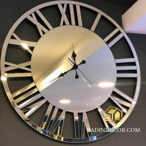 ساعت دیواری آینه ای گرد هایکو
