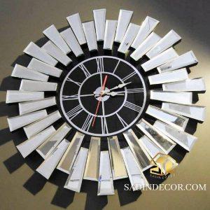 ساعت دیواری آینه کاری خورشیدی