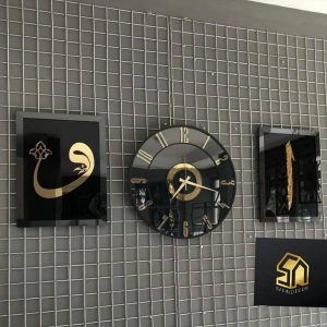 ست تابلو و ساعت دیواری طرح الف