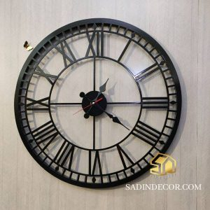 ساعت دیواری چوبی سها